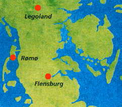 R�m� is an island in the North Sea just north of the German island Sylt ( Click for map of R�m� )